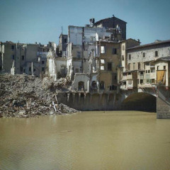 Entrance to Ponte Vecchio following Nazi Demolitions